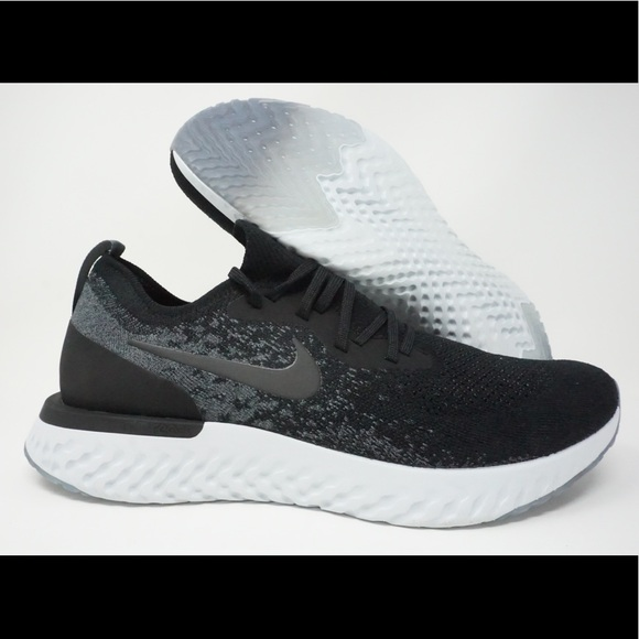 49b3e18db4bee7 Nike Epic React Flyknit Mens Running Shoes Black